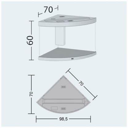 Juwel Trigon 190 Led Μαύρο
