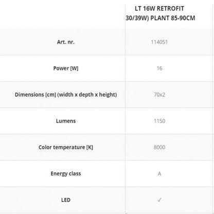 Aquael Lt 16W Retrofit (30 39W) Plant 85-90Cm
