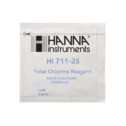 Hanna Hi 711-25 Checker Totel Clorine Reagents 25 Pcs