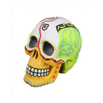 Aqua Della Dias De Los Muertos skull 2 -11.8×7.7&#21...