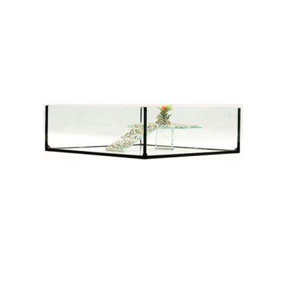 GCF χελωνιέρα γυάλινη τετράγωνη