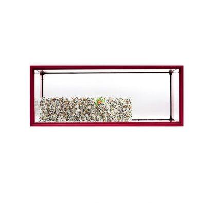 GCF χελωνιέρα γυάλινη κόκκινη 50 cm