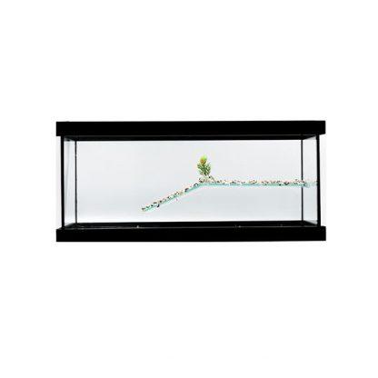 GCF χελωνιέρα γυάλινη μαύρη 50 cm